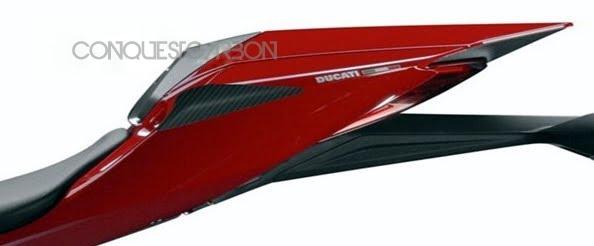 Ducati Panigale 899 1199 Carbon Fibre Tail Slider Gloss