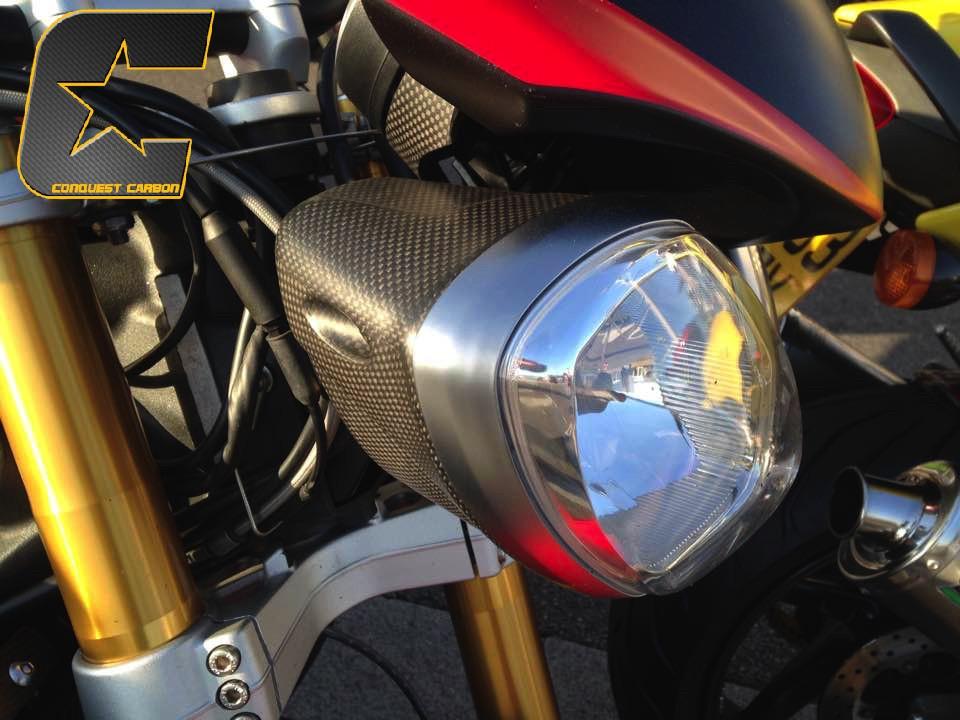 Triumph Speed Street Triple Carbon Fibre Headlight Bowls Satin Ebay