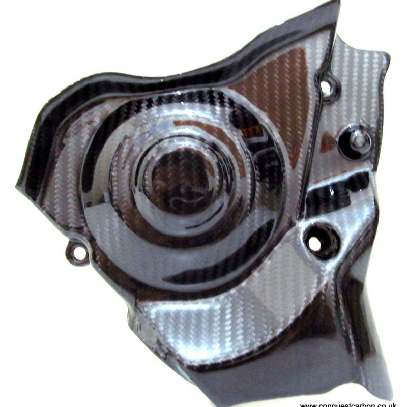 Aprilia RSV4 Carbon Fibre Sprocket Cover Gloss