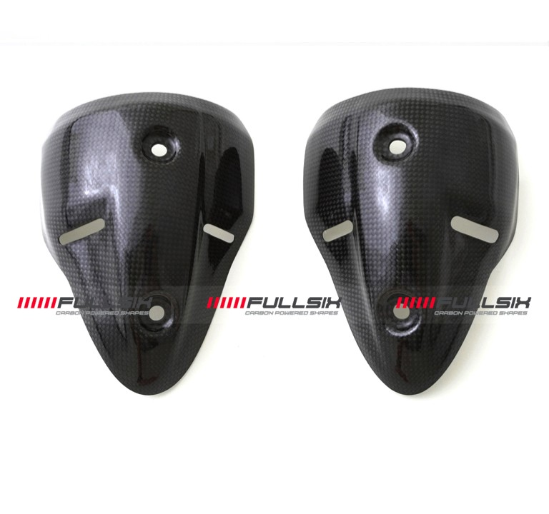 Fullsix Ducati Monster 696 796 1100 Carbon Fibre Exhaust Guards