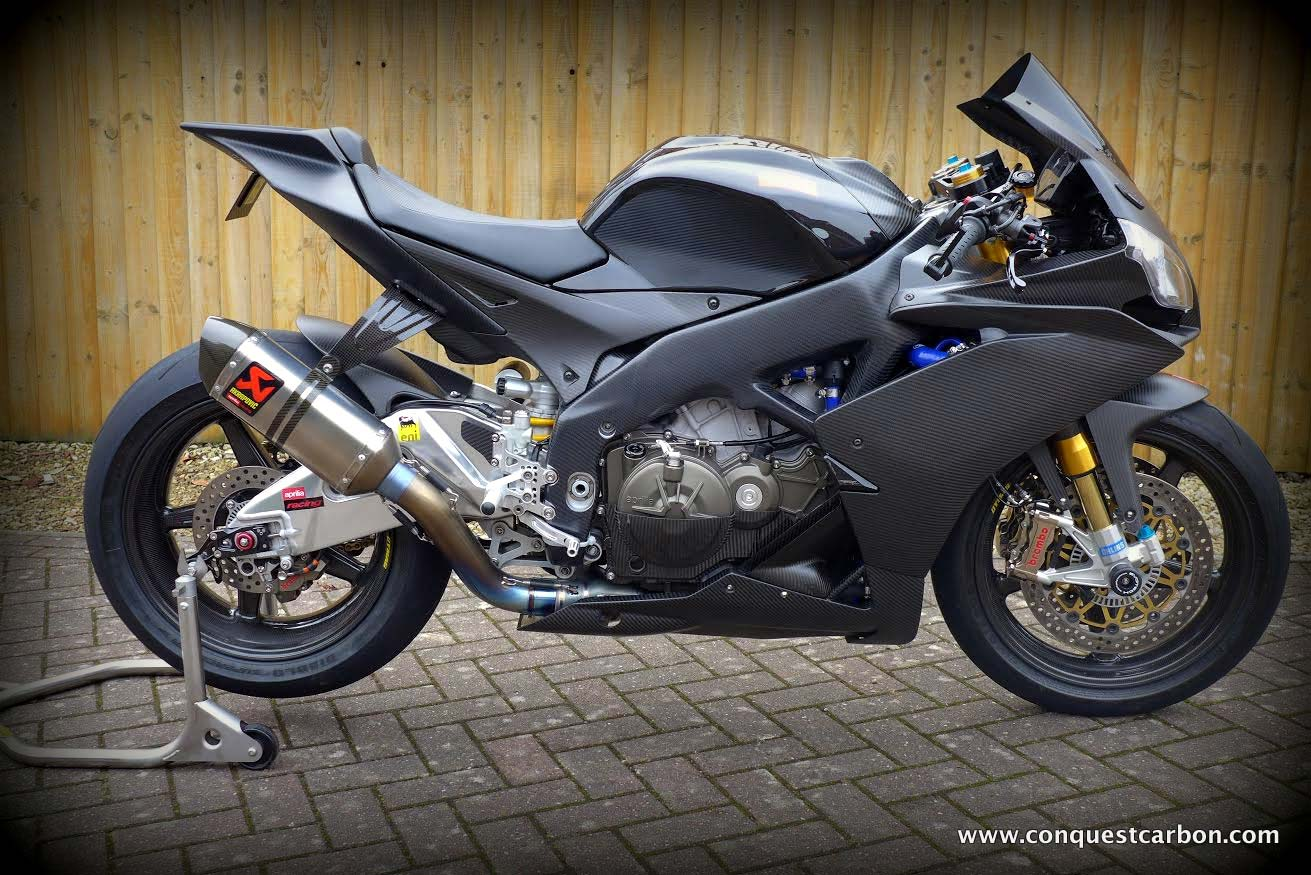 Aprilia RSV4 carbon fibre fairings in matte/satin finish by Sean ...