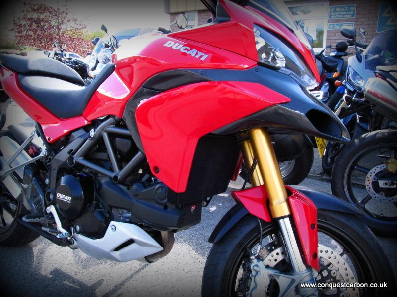 Ducati Multistrada 1200 Carbon Fibre Parts by Conquest Carbon