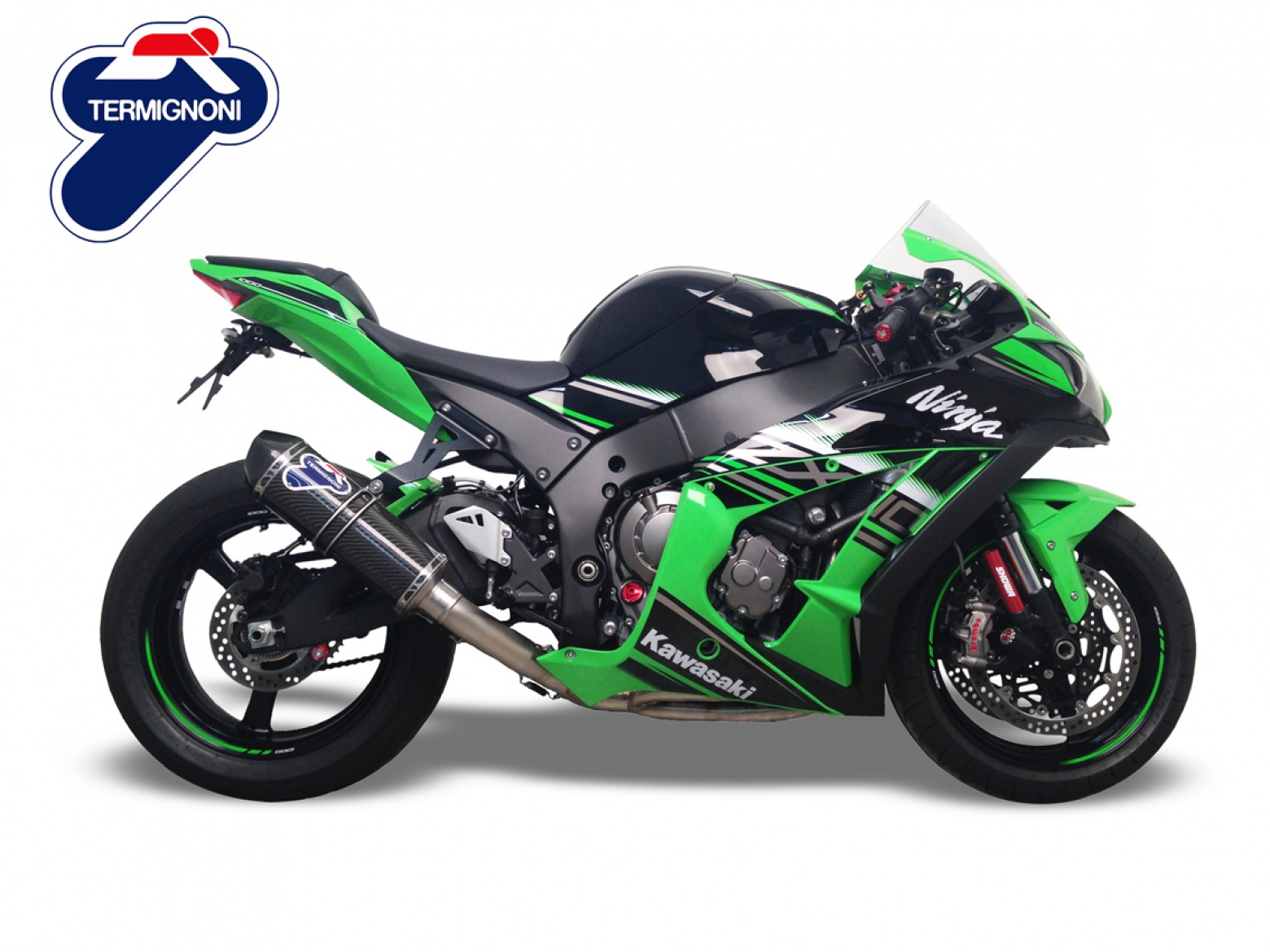 termignoni kawasaki zx10r relevance inox carbon exhaust system. Black Bedroom Furniture Sets. Home Design Ideas