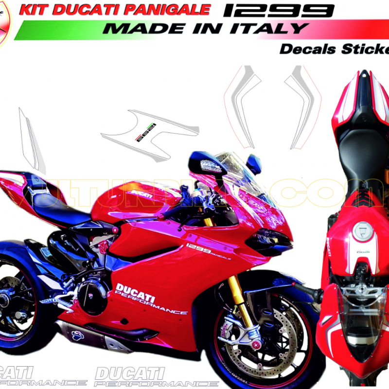 Vulturbike Ducati Panigale 959 1299 Ducati Performance Decal Sticker Kit