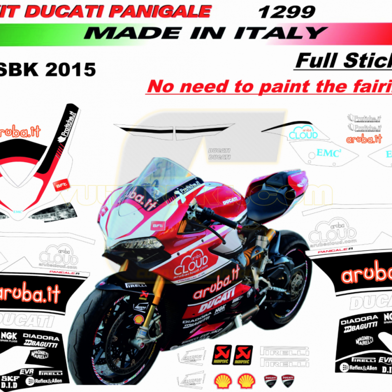 Vulturbike Ducati Panigale WSB Aruba Decal Sticker Kit