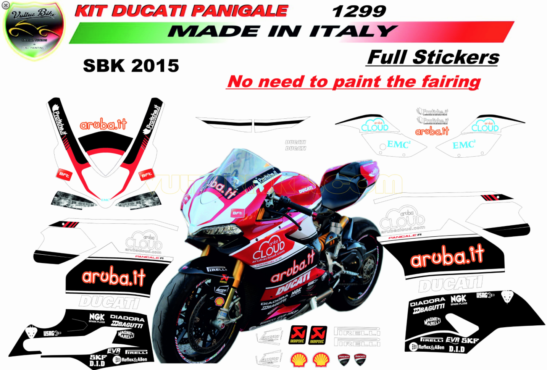 Vulturbike Ducati Panigale WSB Aruba Decal Sticker Kit - Ducati motorcycles stickers