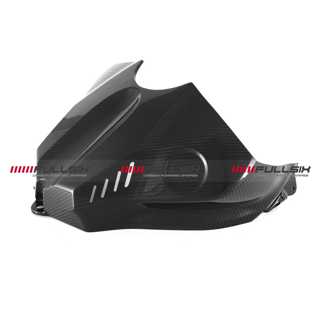 Fullsix yamaha yzf r1 carbon fibre tank cover conquest for Yamaha r1 carbon fiber parts