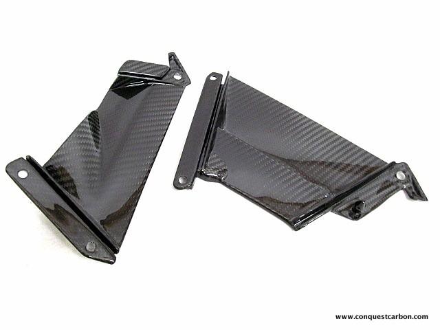 Aprilia RSV4 RF RR Carbon Fibre Fairing Pullers Gloss