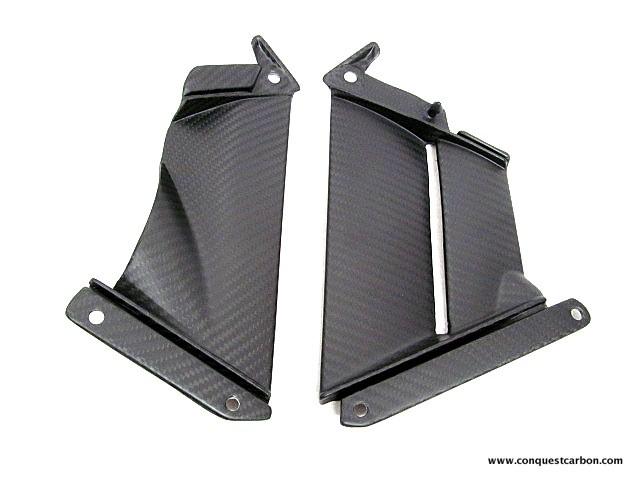 Aprilia RSV4 RF RR Carbon Fibre Fairing Pullers Satin