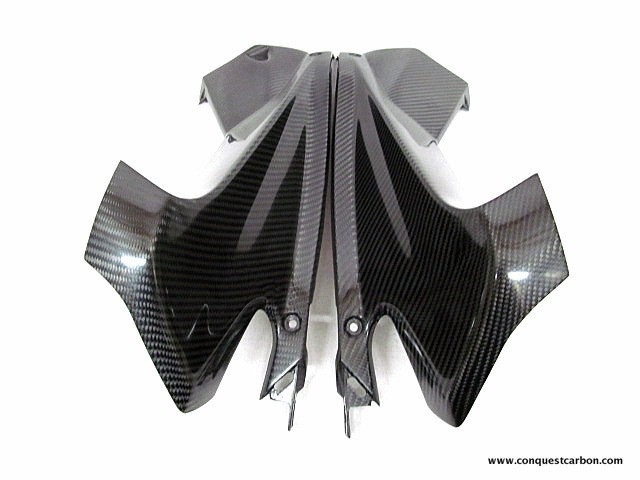 Aprilia RSV4 RF RR Carbon Fibre Air Intake Panels Gloss
