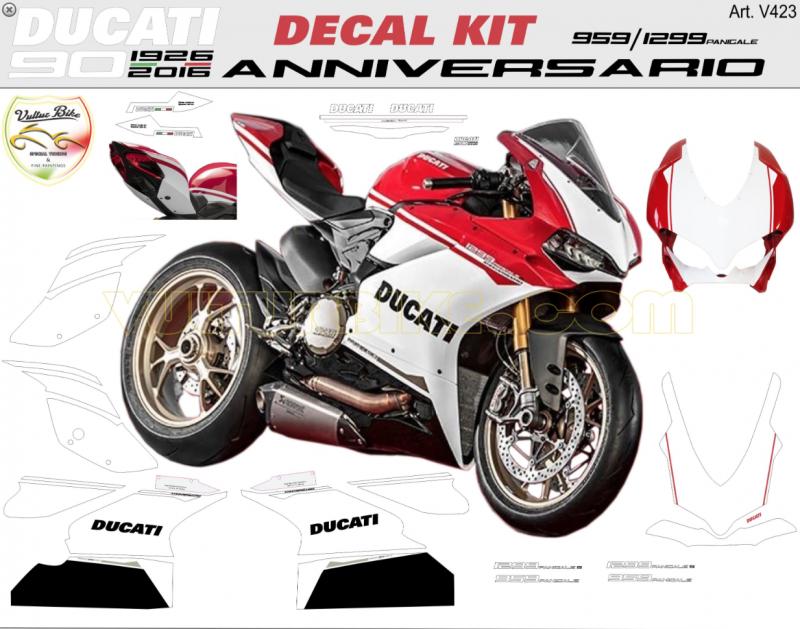 Vulturbike Ducati 959 1299 Panigale Anniversario Decal Sticker Kit
