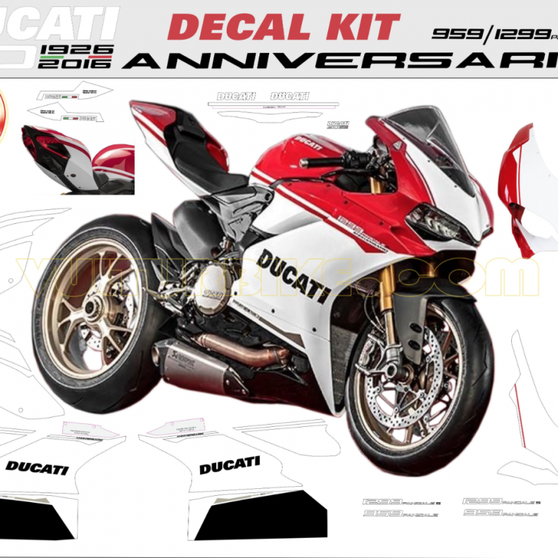 Vulturbike Ducati 959 1299 Panigale Anniversario Decal Sticker Kit