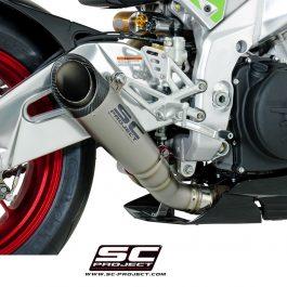 SC Project Exhaust Aprilia RSV4 RF RR S1 Silencer - Low position 2017+