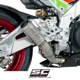 SC Project Exhaust Aprilia RSV4 RF RR CR-T Silencer Low position 2017+