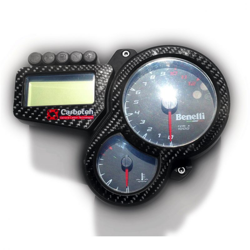 Carboteh Benelli Tornado TNT Real Carbon Fibre Speedometer Instrument Cover