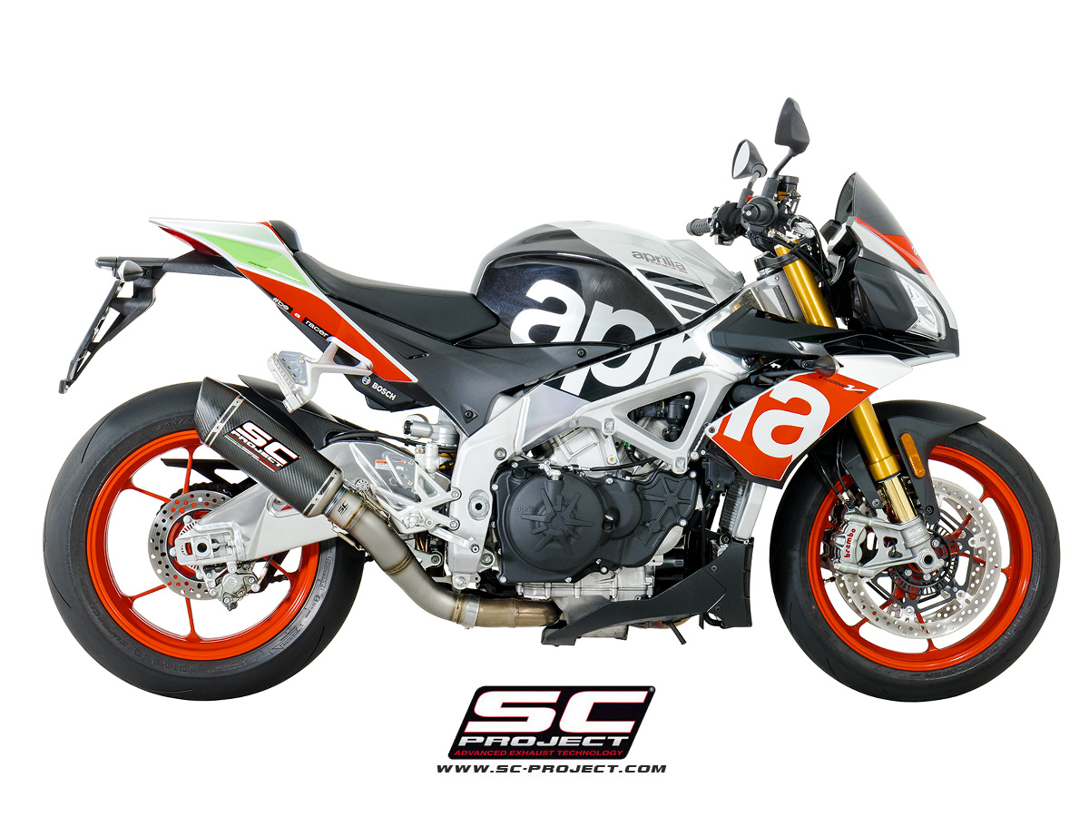 sc project exhaust aprilia tuono v4 1100 rr factory oval racing silencer. Black Bedroom Furniture Sets. Home Design Ideas