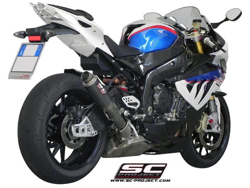 SC Project Exhaust BMW S1000RR HP4 GP M2 Silencer - High position 2010-2014