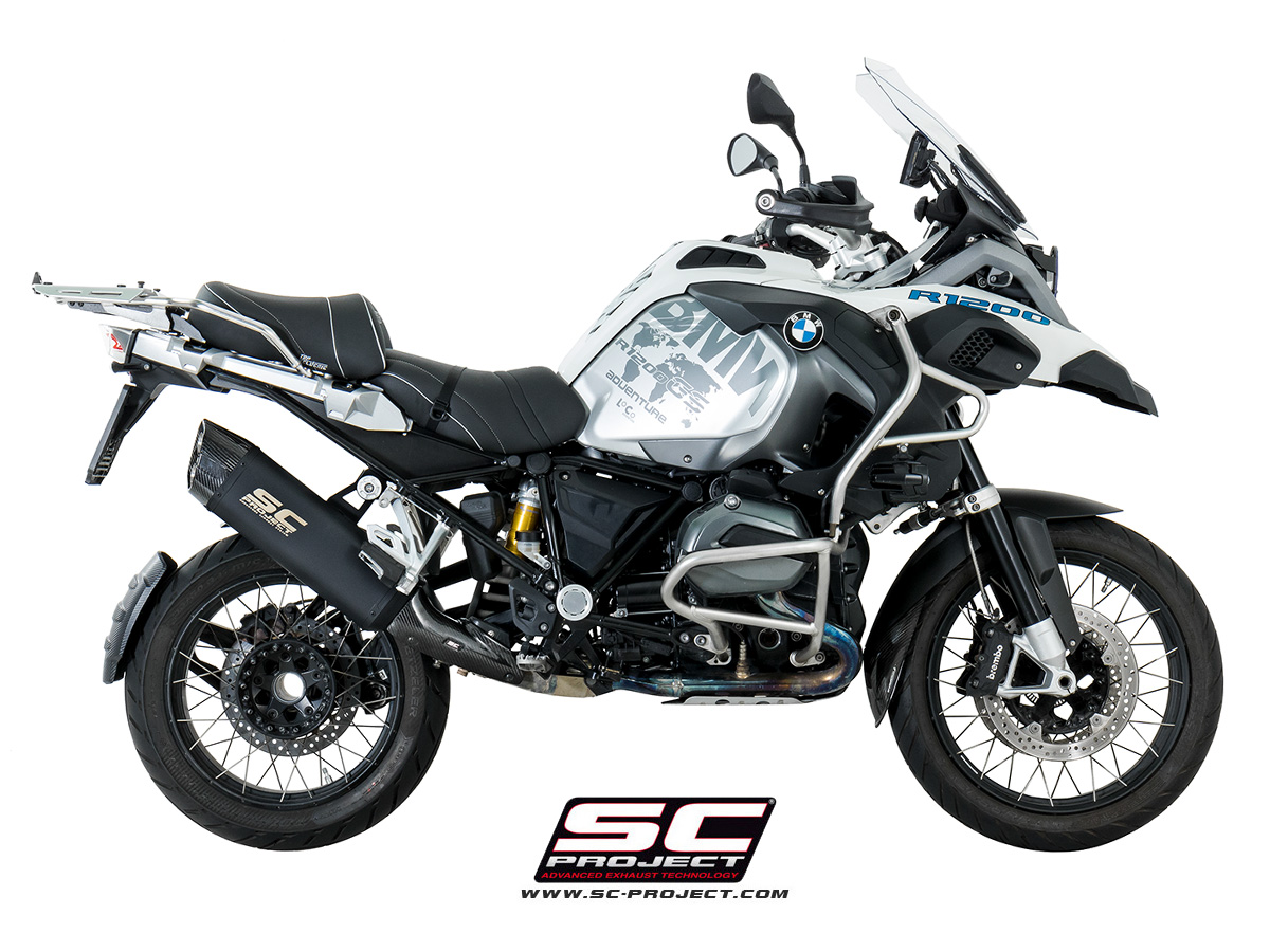 sc project exhaust bmw r1200gs adventure silencer matt black edition. Black Bedroom Furniture Sets. Home Design Ideas
