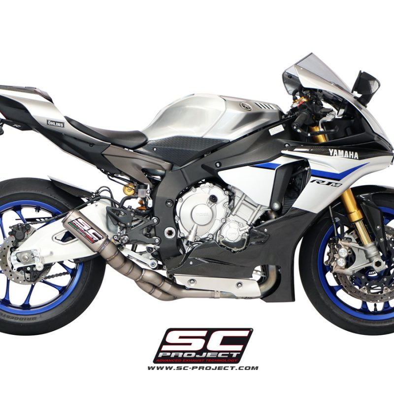 SC Project Exhaust Yamaha YZF R1 R1M De-cat Full Exhaust System CR-T Silencer Low Position 2015+