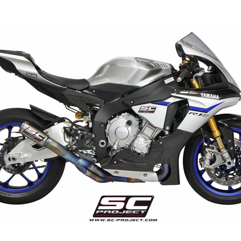 SC Project Exhaust Yamaha YZF R1 R1M De-cat Full Exhaust System CR-T Silencer 2015+