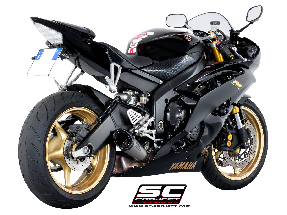 sc project exhaust yamaha yzf r6 s1 silencer 2006 2016. Black Bedroom Furniture Sets. Home Design Ideas