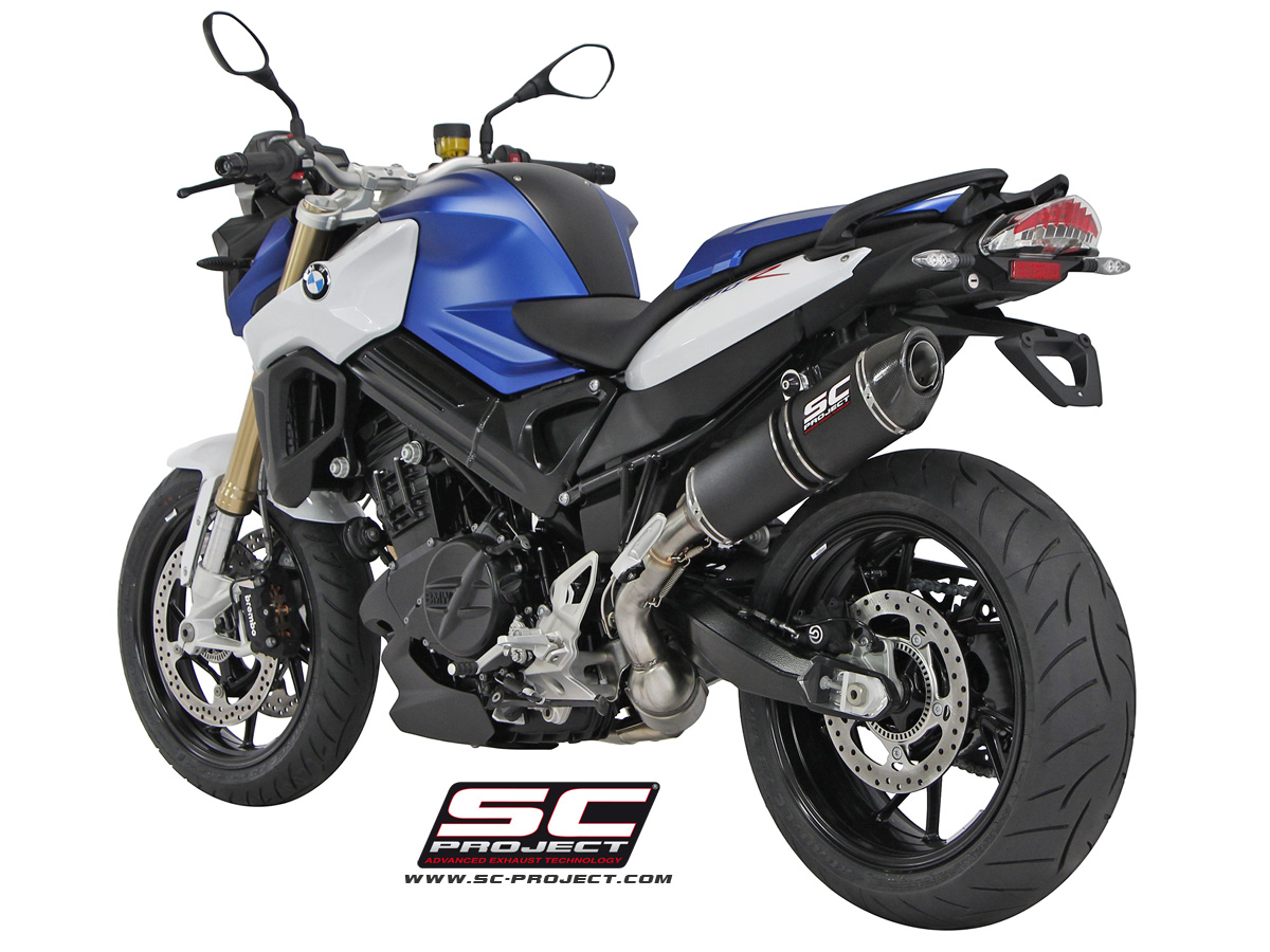 sc project exhaust bmw f800r oval silencer 2015. Black Bedroom Furniture Sets. Home Design Ideas
