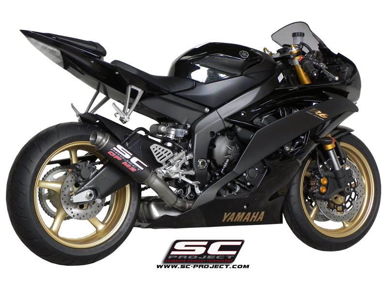 sc project exhaust yamaha yzf r6 gp m2 silencer high position. Black Bedroom Furniture Sets. Home Design Ideas