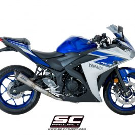 SC Project Exhaust YAMAHA YZF R3 Full System 2 - 1 S1 Silencer