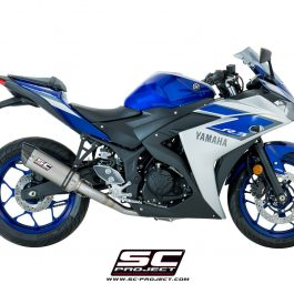 SC Project Exhaust YAMAHA YZF R3 Full System 2 - 1 Oval Silencer