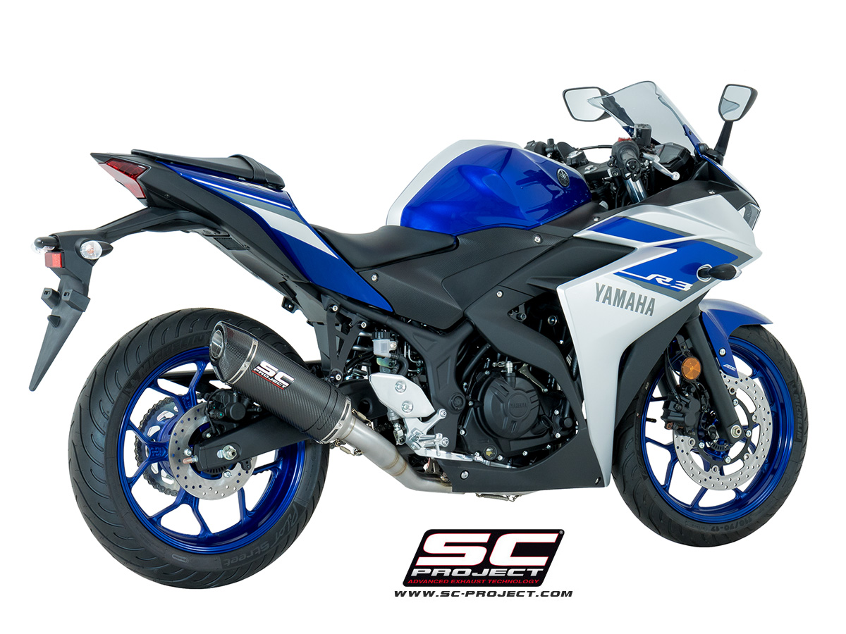 Sc Project Exhaust Yamaha Yzf R3 Full System 2 1 Oval Silencer