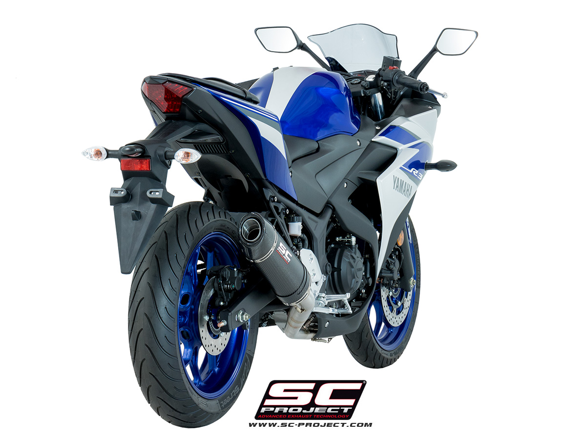 sc project exhaust yamaha yzf r3 full system 2 1 oval silencer. Black Bedroom Furniture Sets. Home Design Ideas