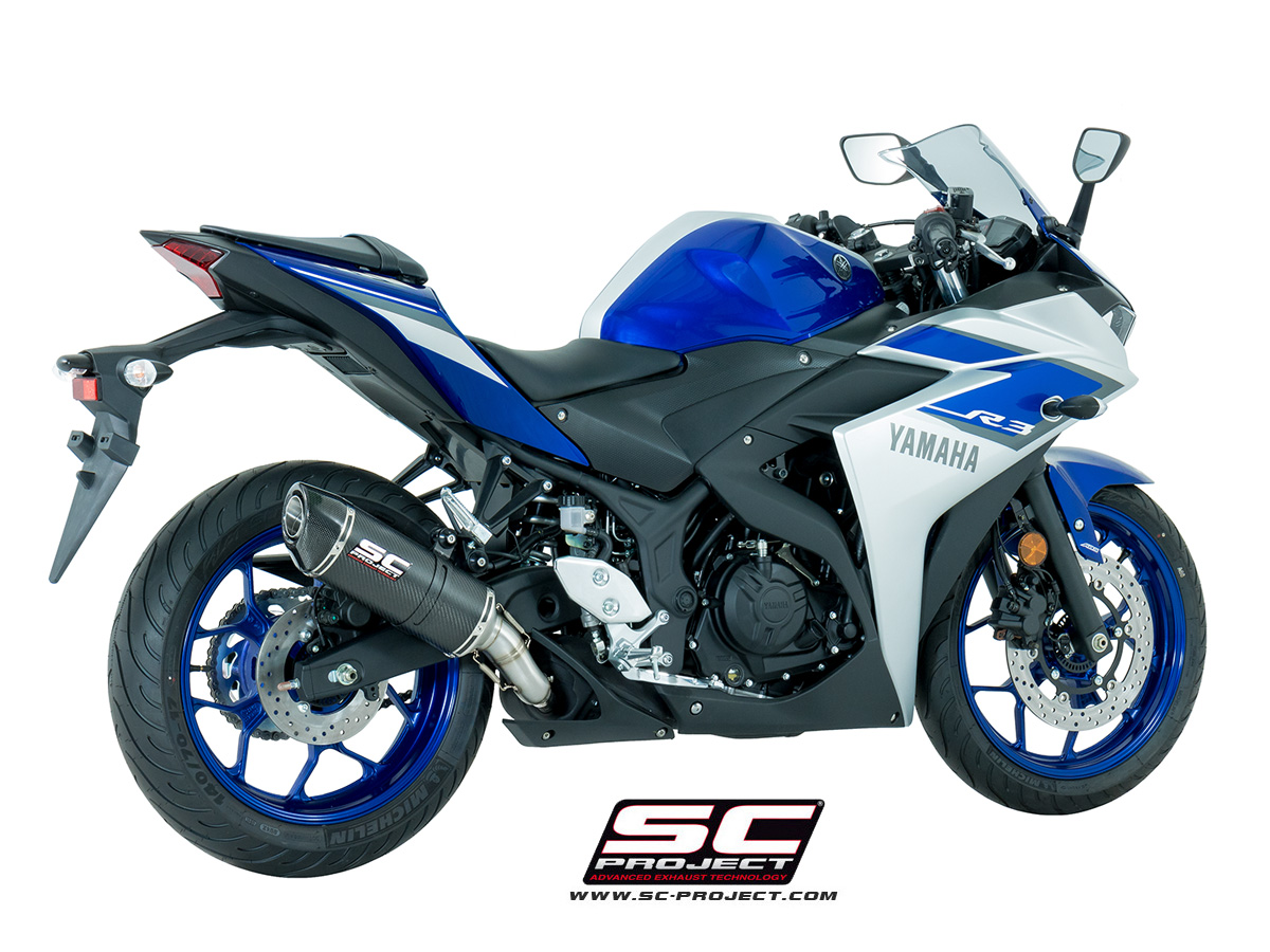 sc project exhaust yamaha yzf r3 oval silencer. Black Bedroom Furniture Sets. Home Design Ideas