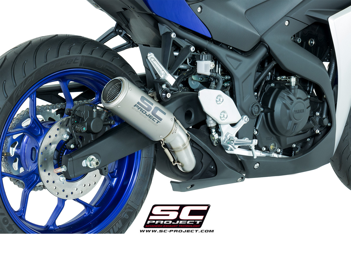 sc project exhaust yamaha yzf r3 cr t silencer. Black Bedroom Furniture Sets. Home Design Ideas