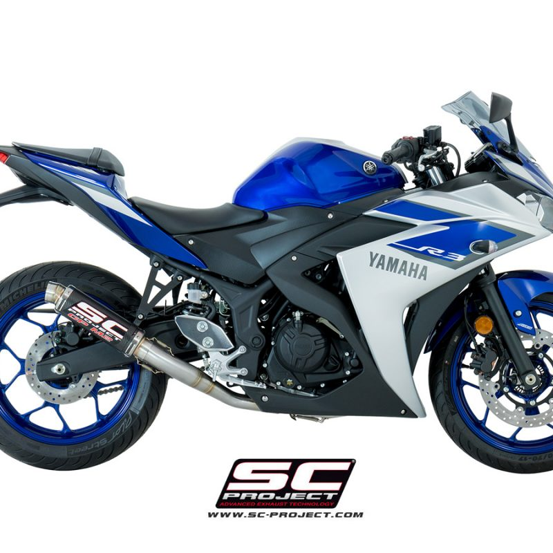 SC Project Exhaust YAMAHA YZF R3 Full System 2 - 1 GP M2 Silencer