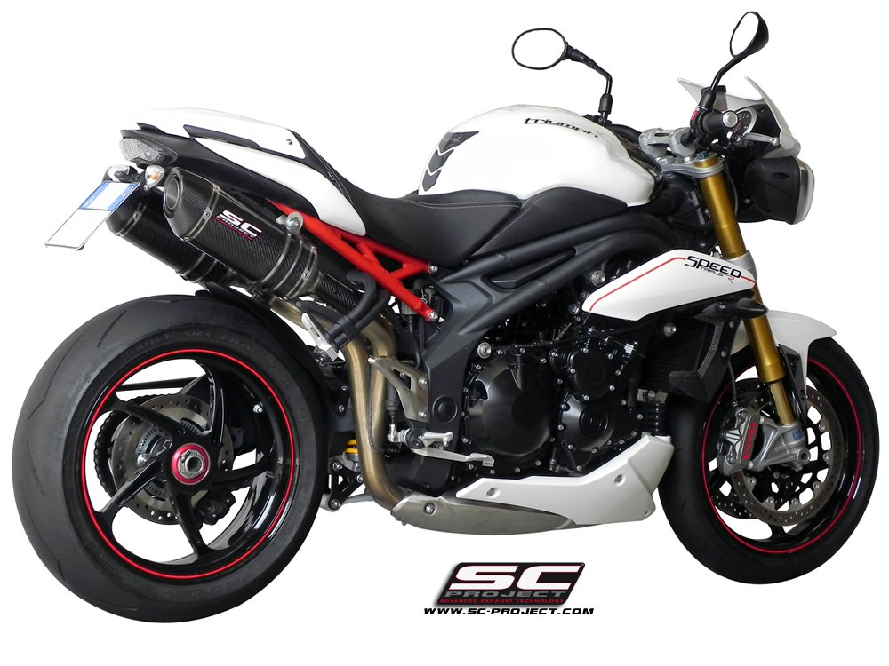 SC Project Exhaust Triumph Speed Triple Oval Silencers 2011 - 2015