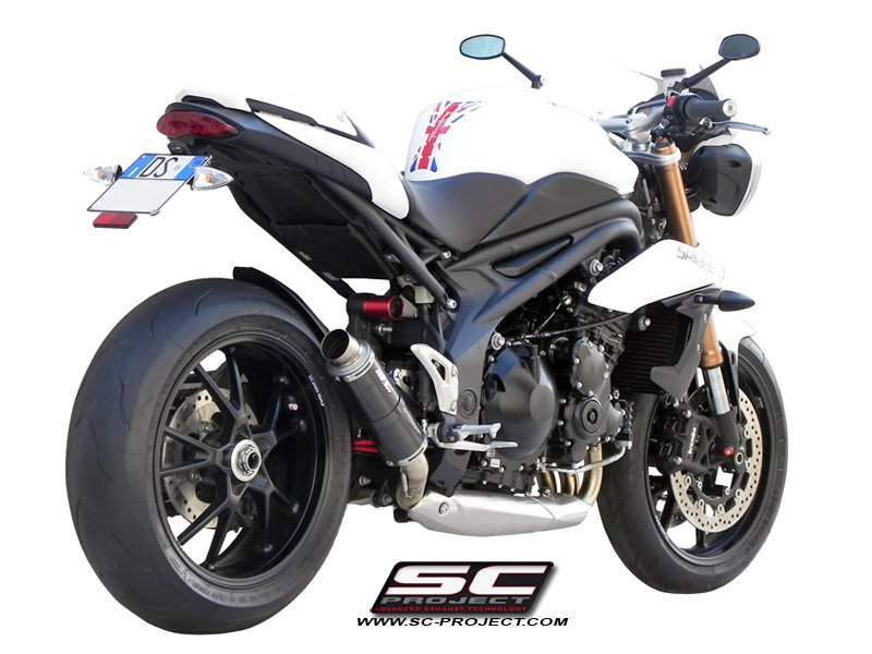 SC Project Exhaust Triumph Speed Triple GP M2 Silencer Low Position 2011 - 2015