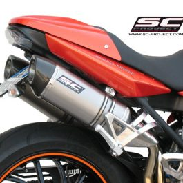 SC Project Exhaust Triumph Speed Triple Oval Silencers 2007 - 2010