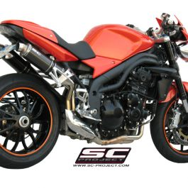 SC Project Exhaust Triumph Speed Triple GP Silencers 2007 - 2010