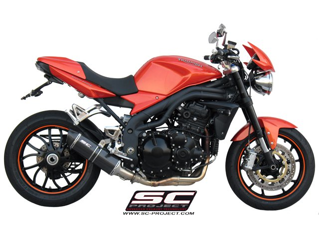 SC Project Exhaust Triumph Speed Triple Oval Silencer Low Position 2007 - 2010