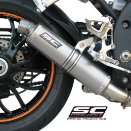 SC Project Exhaust Triumph Speed Triple GP Silencer Low Position 2007 - 2010