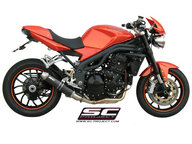 SC Project Exhaust Triumph Speed Triple GP EVO Silencer Low Position 2007 - 2010