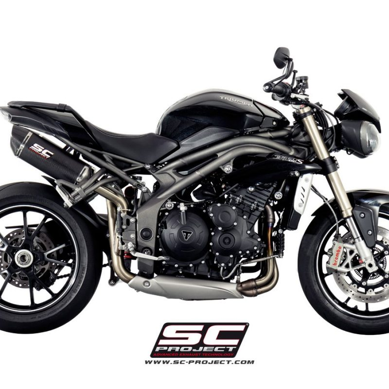 SC Project Exhaust Triumph Speed Triple 1050 Oval Silencers 2016+