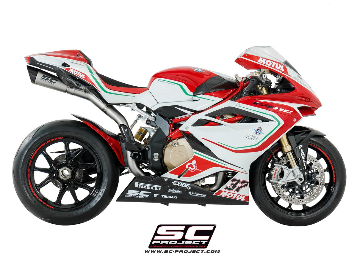 sc project exhaust mv agusta f4 s1 silencer 2010 conquest carbon. Black Bedroom Furniture Sets. Home Design Ideas
