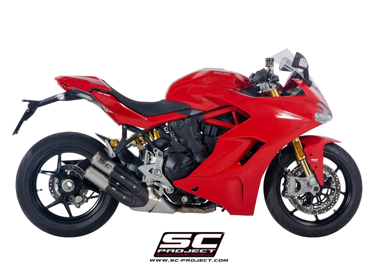 sc project exhaust ducati supersport cr t twin silencers