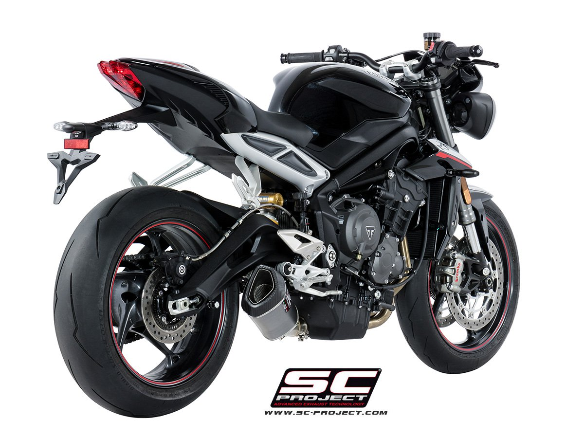 SC Project Exhaust Triumph Street Triple 765 S R RS SC1-R Silencer 2017+