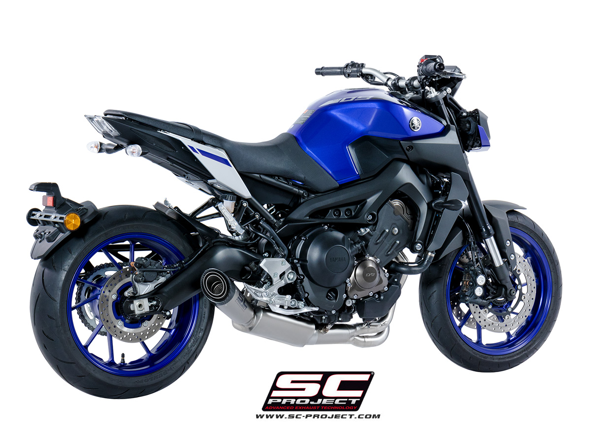 sc project exhaust yamaha mt 09 full system 3 1 s1 silencer 2017. Black Bedroom Furniture Sets. Home Design Ideas