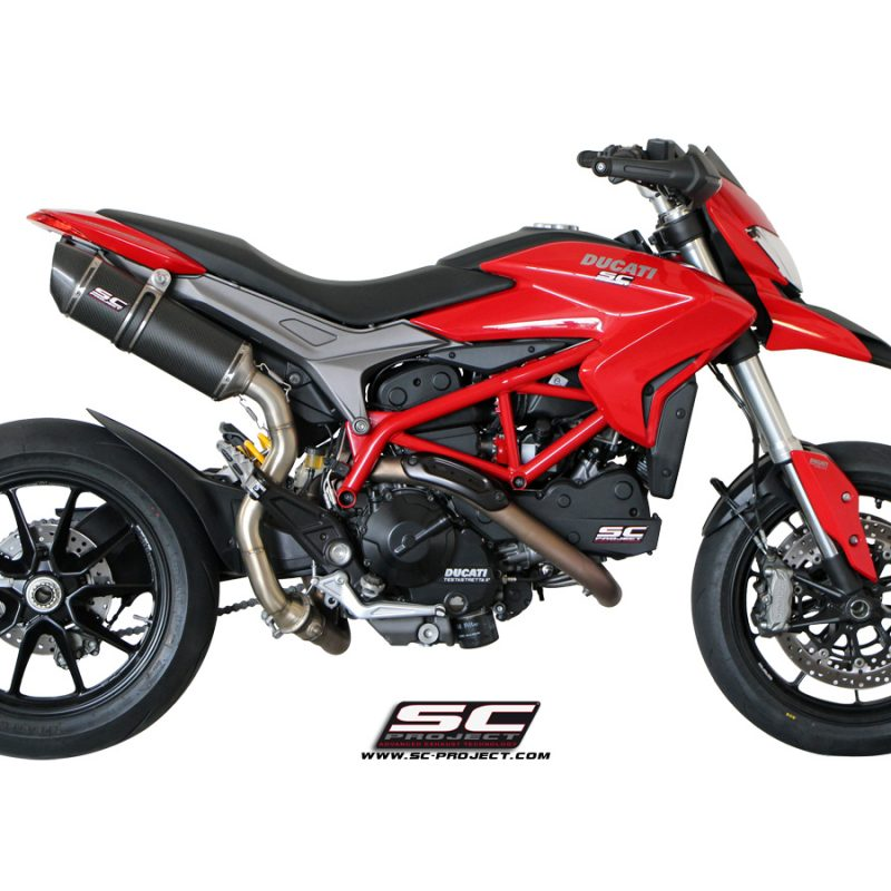 SC Project Exhaust Ducati Hypermotard 821 Oval Silencer - High Position 2013-16