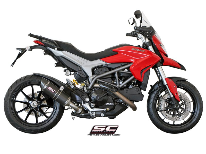 SC Project Exhaust Ducati Hypermotard 821 Oval Silencer - Low Position 2013-16
