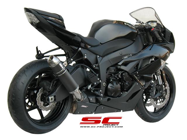 SC Project Exhaust Kawasaki Ninja ZX 6R GP EVO Silencer 2009 2012