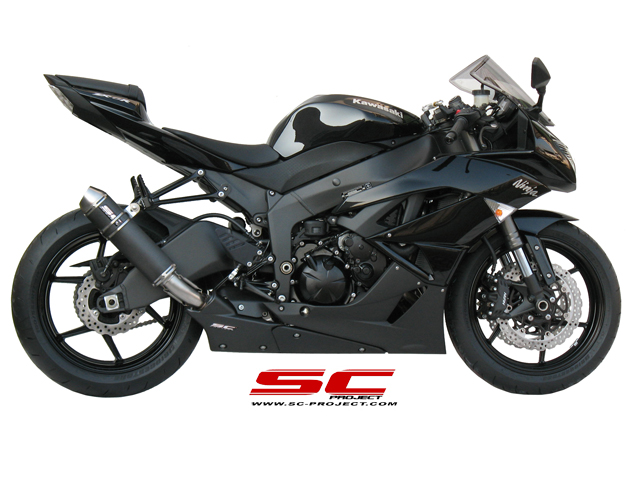 SC Project Exhaust Kawasaki Ninja ZX-6R GP-EVO Silencer 2009-2012